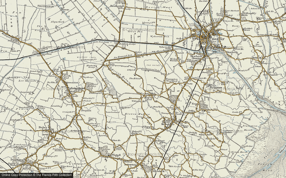 Old Map of Historic Map covering Baker's Br in 1902-1903