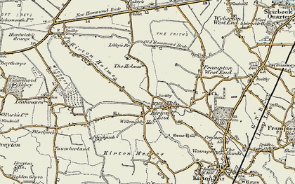 Old map of Baker's Br in 1902-1903