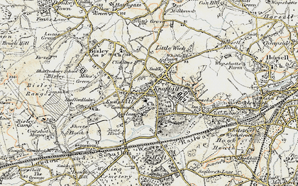 Old map of Knaphill in 1897-1909