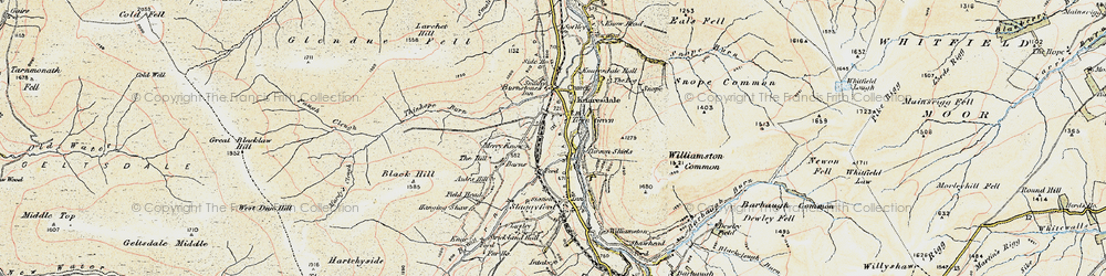 Old map of Williamston Common in 1901-1904