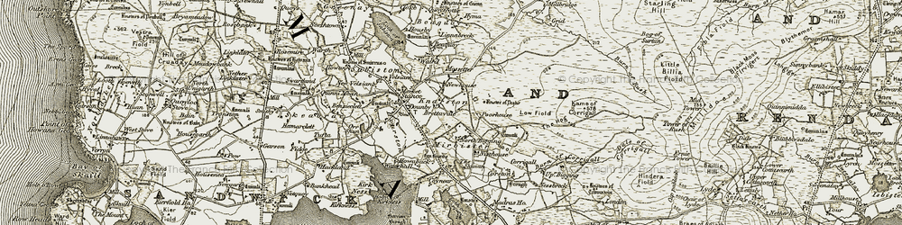 Old map of Wilderness in 1912