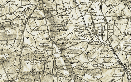 Old map of Whynietown in 1909-1910
