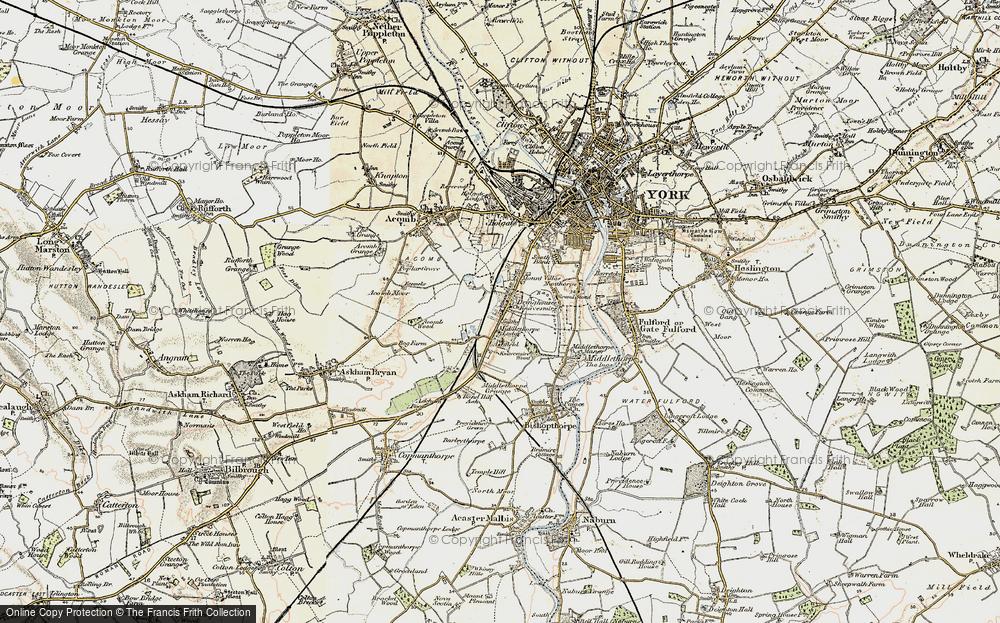 Old Map of Knavesmire, 1903 in 1903
