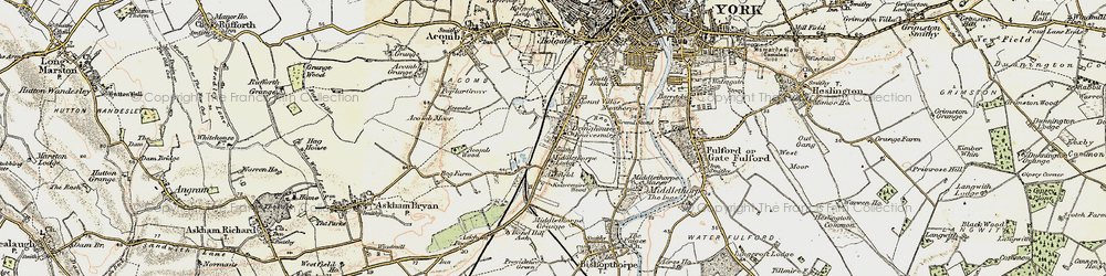 Old map of Knavesmire in 1903