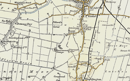 Old map of Linwood Ho in 1901-1902