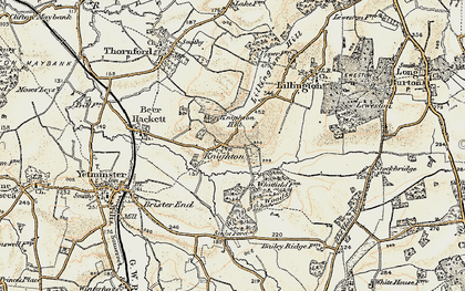 Old map of Whitfield Woods in 1899