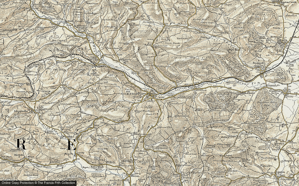 Old Map of Knighton, 1901-1903 in 1901-1903