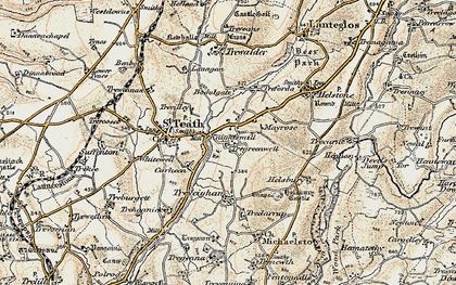 Old map of Knightsmill in 1900