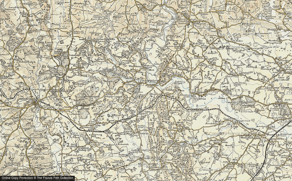 Old Map of Knightwick, 1899-1902 in 1899-1902