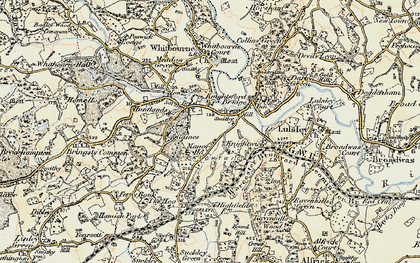 Old map of Knightwick in 1899-1902