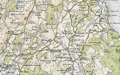 Old map of Yew Tree Tarn in 1903-1904