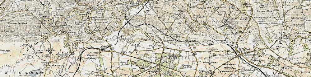 Old map of Woodlands Hall in 1901-1904
