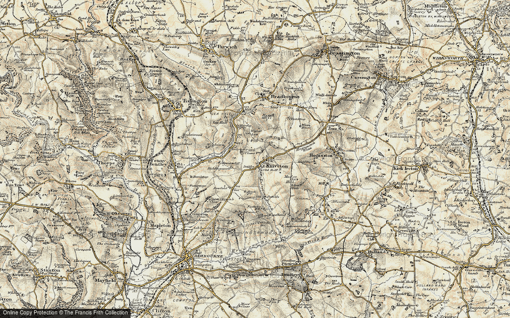 Old Map of Historic Map covering Woodside in 1902
