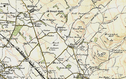 Old map of Knock in 1901-1904