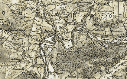 Old map of Tomintuigle in 1908-1911