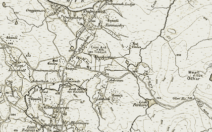Old map of Achork in 1910-1912