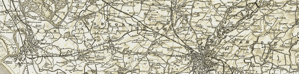 Old map of West Plann in 1905-1906