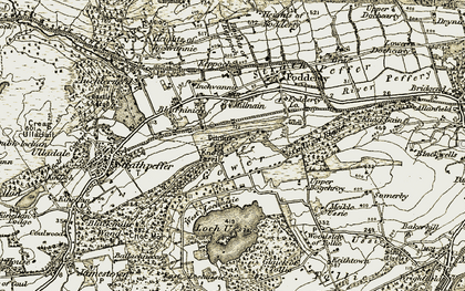 Old map of Woodside of Tollie in 1911-1912