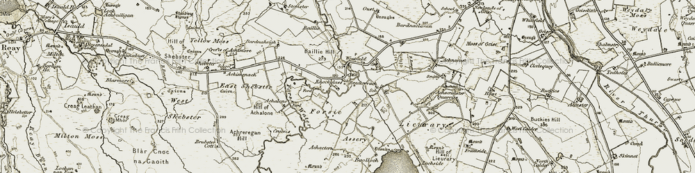 Old map of Achaeter in 1911-1912