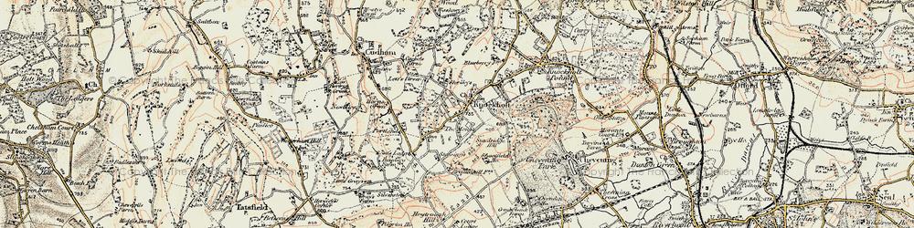 Old map of Knockholt in 1897-1902