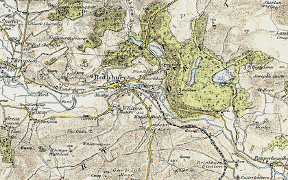 Old map of Whitefield Edge in 1901-1903