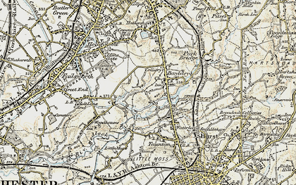 Old map of Bardsley House in 1903