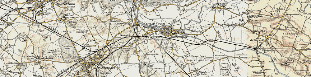Old map of Knottingley in 1903