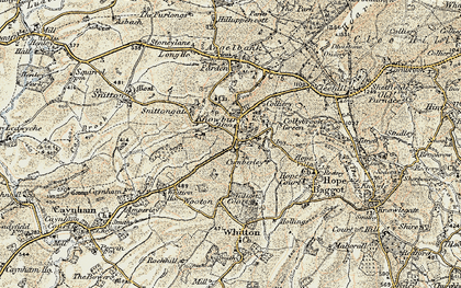 Old map of Whitewayhead in 1901-1902