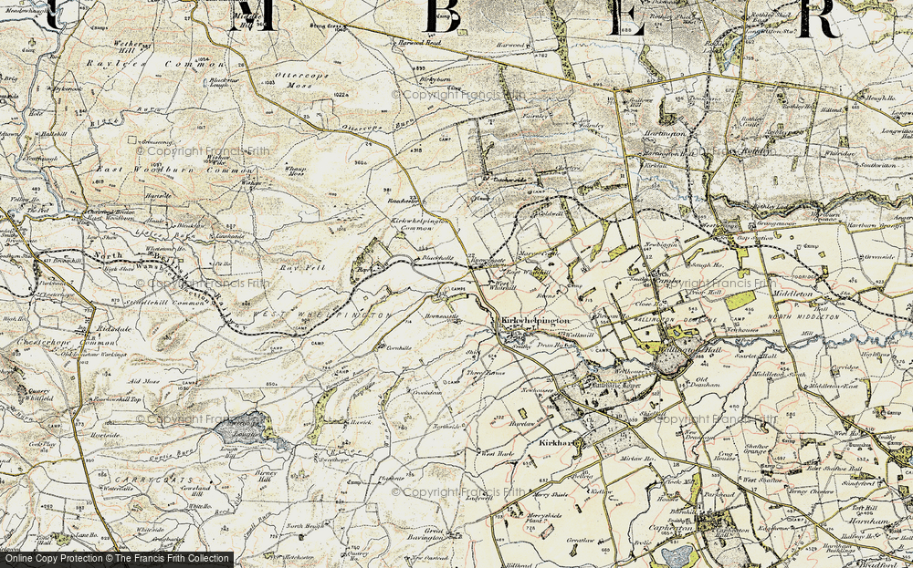Old Map of Historic Map covering Larkhall in 1901-1903