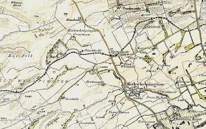Old map of Larkhall in 1901-1903