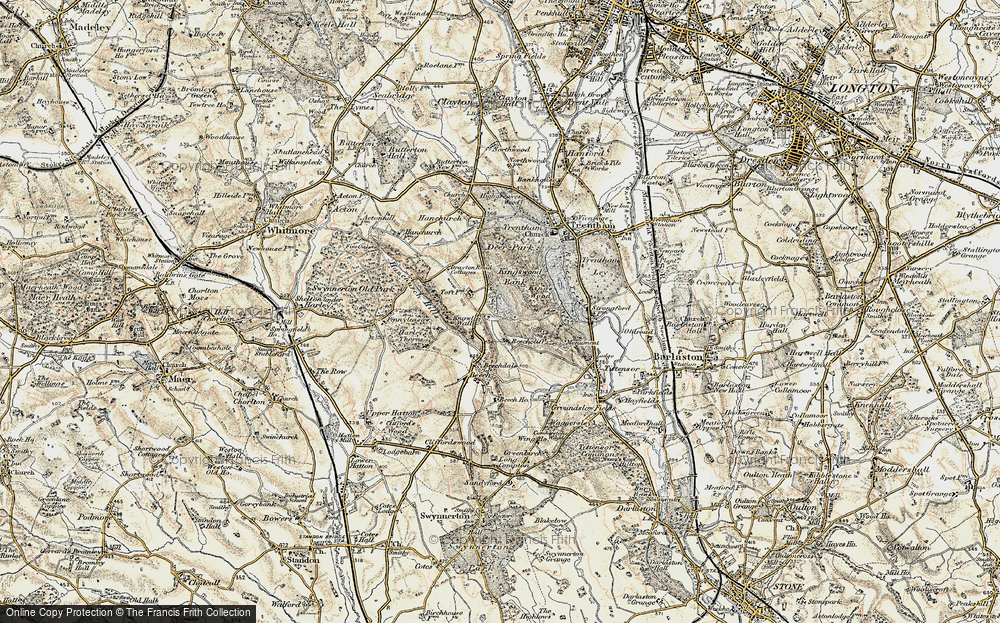 Old Map of Historic Map covering Toft, The in 1902