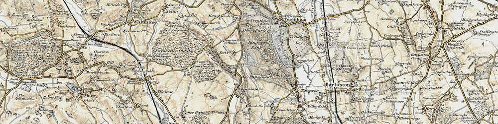 Old map of Toft, The in 1902
