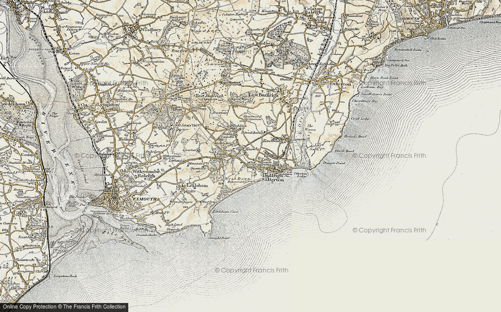 Old Map of Historic Map covering Leeford in 1899