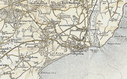 Old map of Leeford in 1899