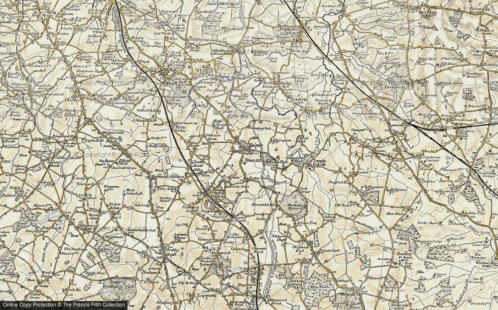 Old Map of Knowle, 1901-1902 in 1901-1902