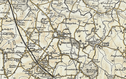 Old map of Knowle in 1901-1902