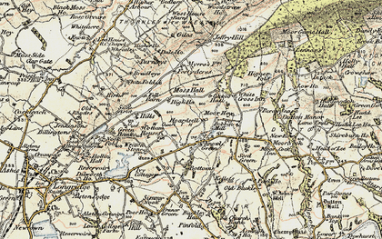 Old map of White Fold in 1903-1904