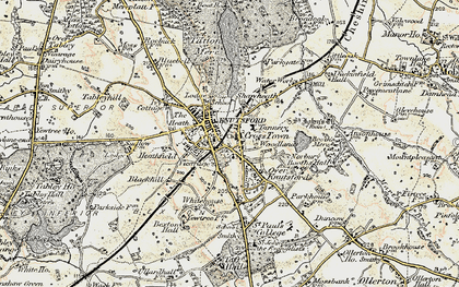 Old map of Knutsford in 1902-1903