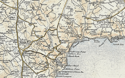 Old map of Kuggar in 1900