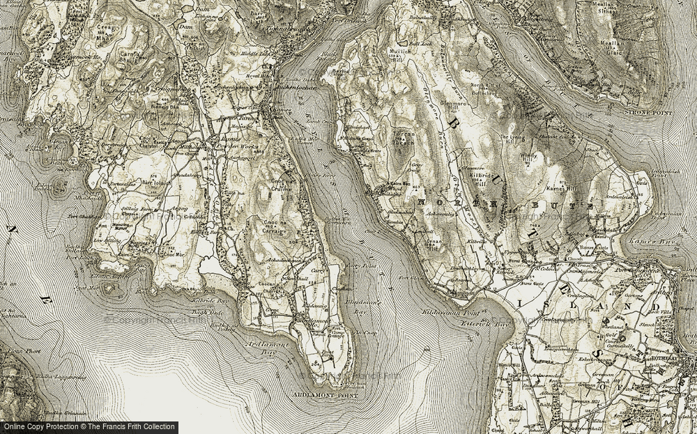 Old Map of Historic Map covering Achadachoun in 1905-1907