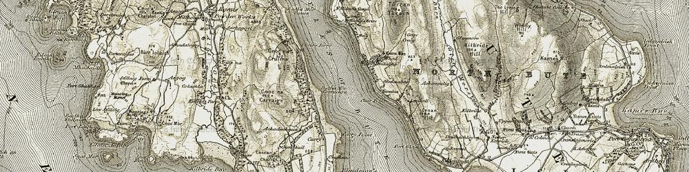 Old map of Achadachoun in 1905-1907
