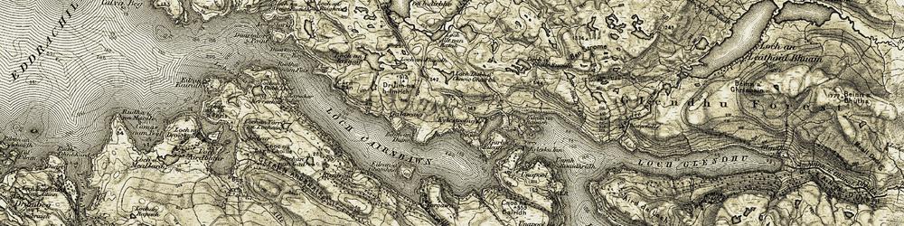 Old map of Allt nan Ramh in 1910