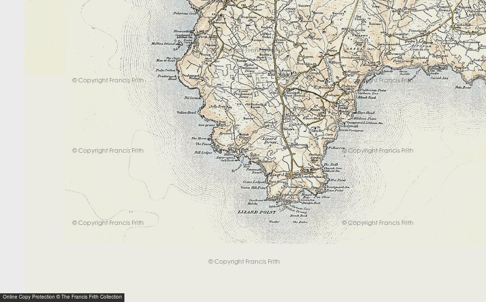 Old Map of Historic Map covering Asparagus Island in 1900
