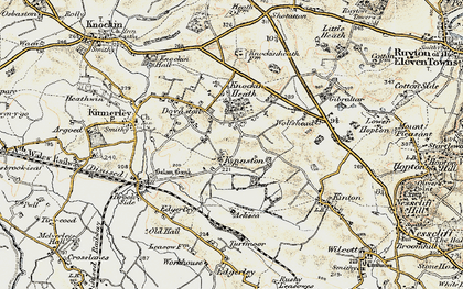 Old map of Wolfshead in 1902