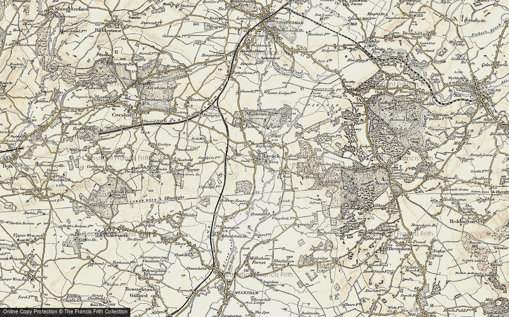 Old Map of Lacock, 1899 in 1899