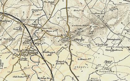 Old map of Larkfield Ho in 1898-1902