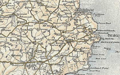 Old map of Laddenvean in 1900