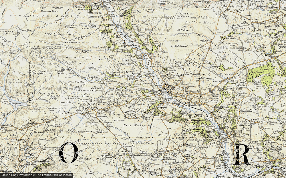 Old Map of Historic Map covering Toft Gate in 1903-1904