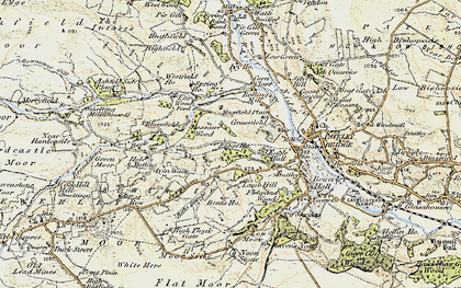 Old map of Mosscarr in 1903-1904