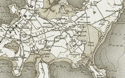 Old map of Leavisgarth in 1912